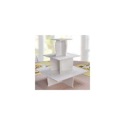 Big Dot of Happiness Inexpensive Cupcake Stand (3 Tier White Foam Board)