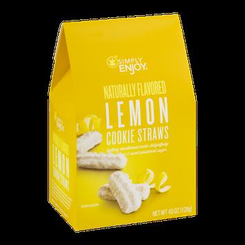 Simply Enjoy Lemon Cookie Straws