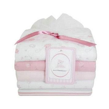 Piccolo Bambino 100% Cotton Flannel Receiving Blankets 5ea