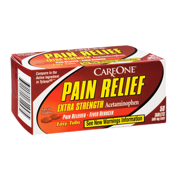CareOne Pain Relief Extra Strength Easy Tabs Pain Reliever-Fever Reducer - 50 CT