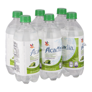 Acadia Sparkling Spring Water Lime - 6 CT