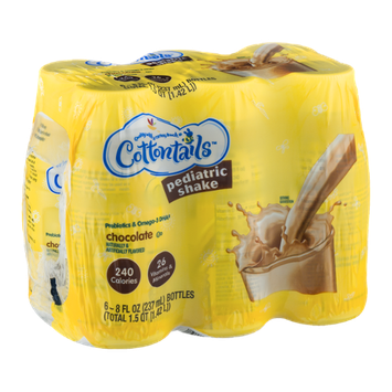 Cottontails Pediatric Shake Chocolate - 6 CT