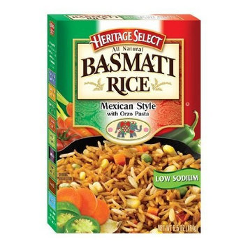 Heritage Select Basmati Rice, Mexican Style, 6.5-Ounce Boxes (Pack of 12)