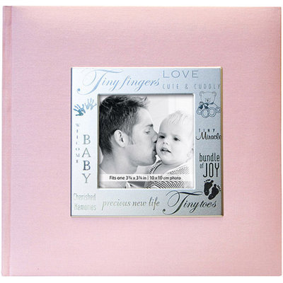 Notions Marketing Fabric Expressions Baby Photo Album - Pink (8.5x8.5
