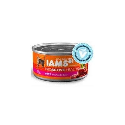 Iams Adult Premium Pate with Tender Beef Canned Cat Food