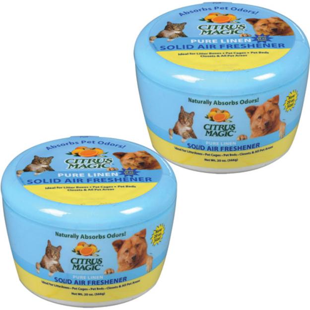 Citrus Magic Pet 20-Ounce Solid Air Freshener, 2-Pack, Pure Linen