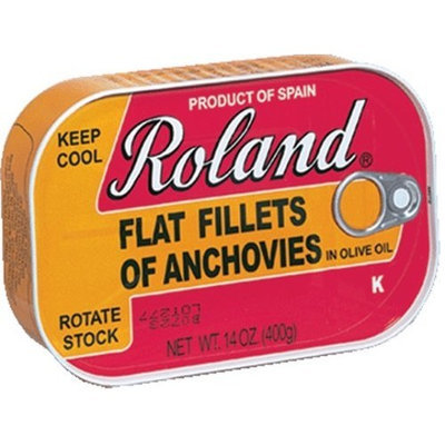 Roland Anchovy Fillets In Olive Oil, Kosher, from Spain, 14-Ounce Can (Pack of 2)