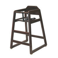 LA BABY L.A. Baby Wooden Stackable Restaurant-Style Highchair - Cherry