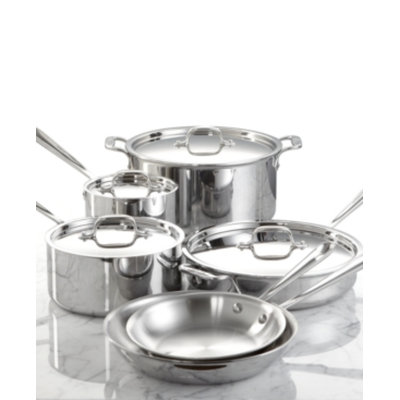 All Clad ALL CLAD Stainless Steel 10 Piece Cookware Set