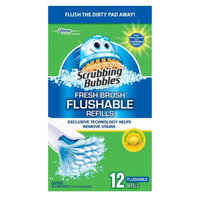 Scrubbing Bubbles Fresh Brush Flushable Refill, Citrus Action, 12 ea
