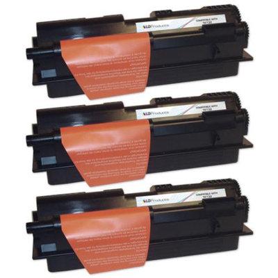 LD Compatible Kyocera Mita TK-132 Set of 3 Black Laser Toner Cartridges