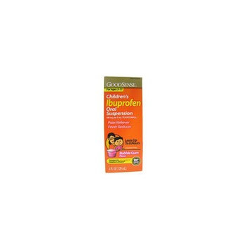Ibuprofen Childrens Suspension, Bubblegum - 4 oz