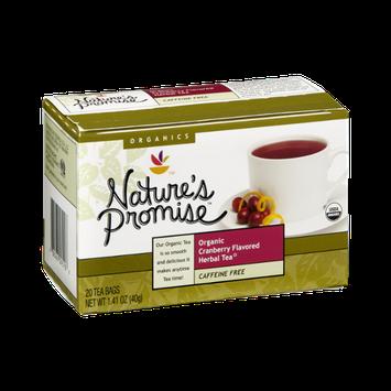 Nature's Promise Organics Organic Cranberry Flavored Herbal Tea Bags - 20 CT