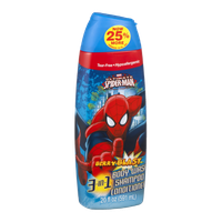 Marvel Ultimate Spiderman 3-In-1 Body Wash Shampoo Conditioner Berry Blast