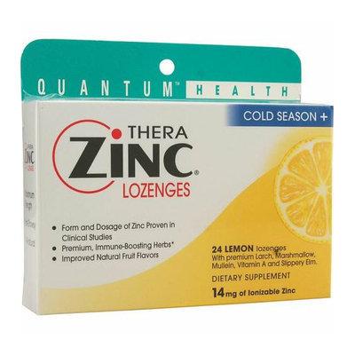 Quantum Research Quantum TheraZinc Cold Season Plus Lozenges Lemon 14 mg 24 Lozenges