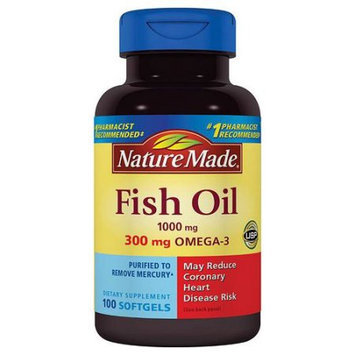 Pharmavite Llc Nature Made Fish Oil Dietary Supplement Softgels, 1000mg, 100 count