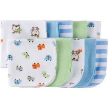Gerber Baby Boy Terry Printed Washcloths, 10-Pack
