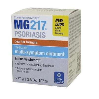 MG217 Medicated Tar Ointment Intensive Strength Psoriasis Treatment, 3.8 Ounce