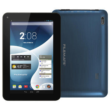 Filemate FileMate(R) ClearX4 Tablet With 7in. Touch-Screen Display Quad-Core Processor, 16GB Storage, Blue