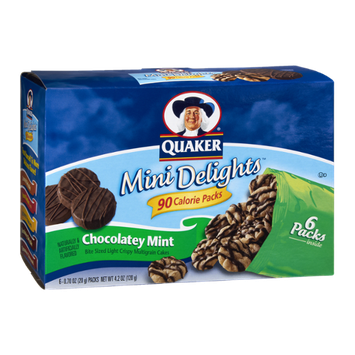Quaker® Mini Delights 90 Calorie Packs Chocolatey Mint Bite Sized Multigrain Cakes
