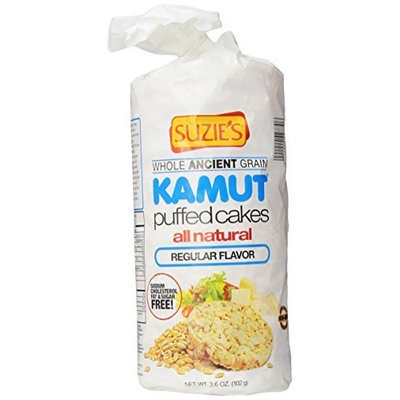 Suzies Suzie's Kamut Puffed Cakes, Plain, 3.6-Ounce Bags (Pack of 12)