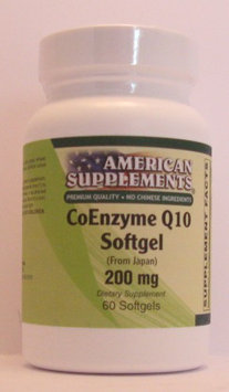 Coenzyme Q10 200 MG IU No Chinese Ingredients American Supplements 60 Softgel