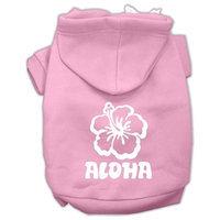 Mirage Pet Products Aloha Flower Screen Print Pet Hoodies Light Pink Size XL (16)