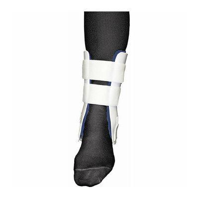 Bell-Horn Rigid Stirrup Ankle Brace in White / Blue