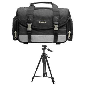 Canon 100DG Digital SLR Camera Case Gadget Bag + Deluxe Tripod for EOS 7D, 5D, 60D, 50D, Rebel T3, T3i, T2i, T1i, XS