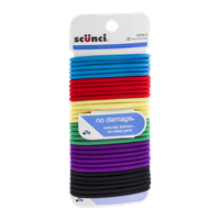 Scunci No Damage Hair Ties Assorted Colors - 32 CT
