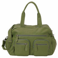 OiOi Faux Buffalo Carry All Diaper Bag - Green