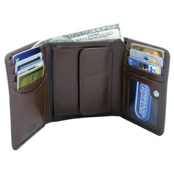 Leatherbay Tri Fold Leather Wallet - Antique Tan