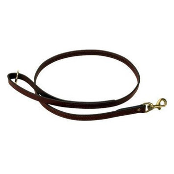 Mendota Products Leather Dog Snap Leash, Chestnut, 3/4-Inch x 6-Feet