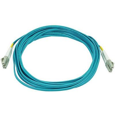 Monoprice 10Gb Fiber Optic Cable, LC/LC, Multi Mode, Duplex - 5 Meter (50/125 Type) - Aqua