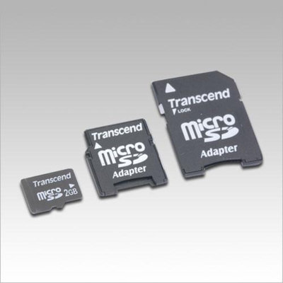 Transcend - 2GB MicroSD Card With 2 SD Adapters