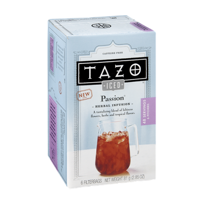 Tazo Iced Passion Herbal Infusion Filterbags - 6 CT