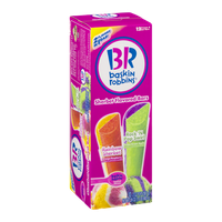 Baskin Robbins Sherbet Flavored Bars Rainbow Sherbet, Rock 'N Pop Swirl - 12 CT