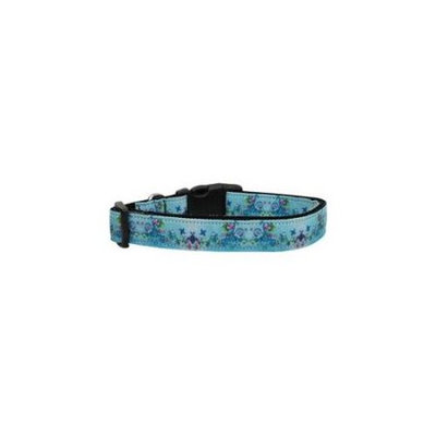 Ahi Dreamy Blue Dog Collar Medium