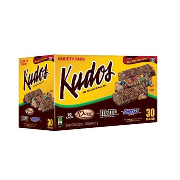 Kudos 100 Calorie Variety Pack Granola Bar, 30-Count Bar (Pack of 2)
