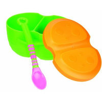 Sassy Single Pack EZ Grip Infant Bowl with Color Change Spoon, Colors May Vary (Discontinued by Manufacturer)