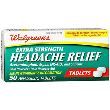 Walgreens Extra Strength Headache Relief Tablets