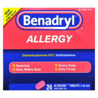 Benadryl Allergy Relief Ultratabs - 25 mg - 24 ct