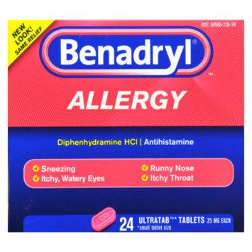 Benadryl Allergy Relief Ultratabs - 25 mg - 24 ct