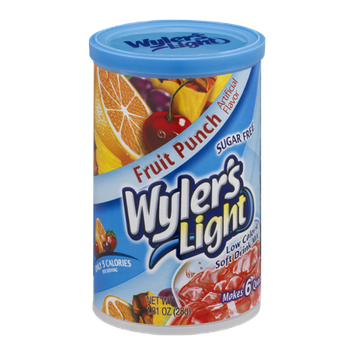 Wyler's Light Sugar Free Low Calorie Soft Drink Mix Fruit Punch