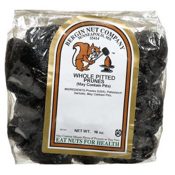Bergin Nut Company Prunes Pitted Whole, 16-Ounce Bags (Pack of 3)