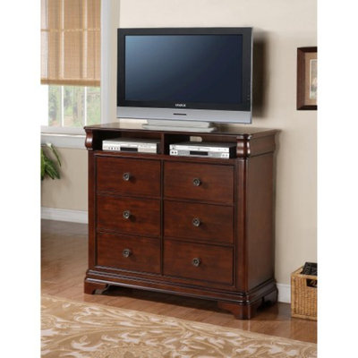 Elements Cameron 6 Drawer Media Chest - Traditional Cherry