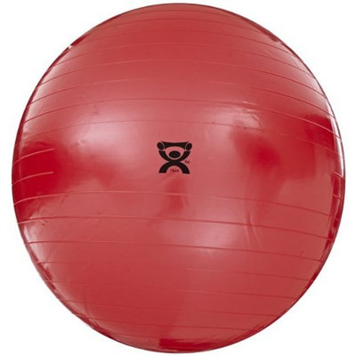 Cando 30-1806 Red Non-Slip PVC Vinyl Inflatable Exercise Ball, 38