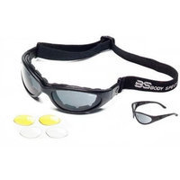 Body Specs BSG, Black Frame, Smoke-Green/Yellow/Clear