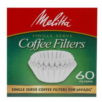 Melitta Single Serve Coffee Filters For JavaJig, 60 ea