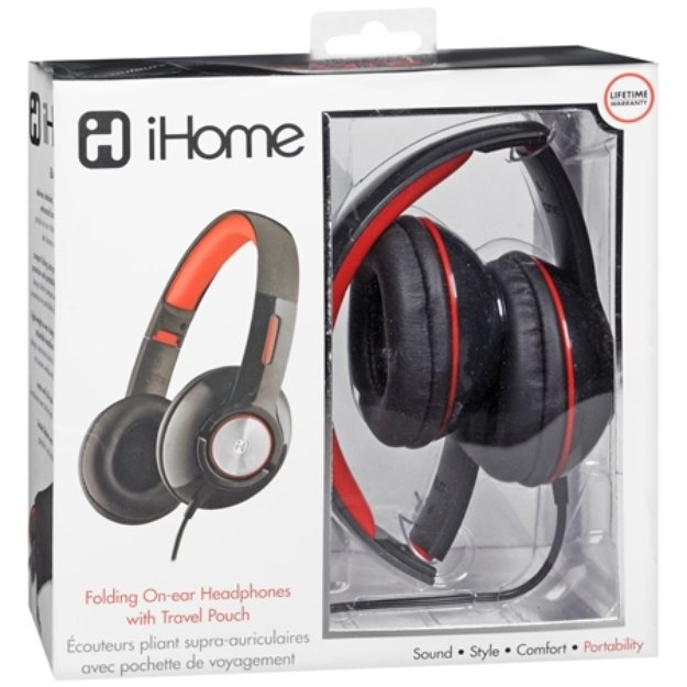 iHome On-Ear Headphones w/Pouch